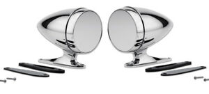 NEW! Mustang Shelby Bullet Style Chrome Mirrors GT350 Cobra GT500 Pair Set