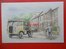 POSTCARD 1934 THORNYCROFT HANDY LORRY ON COAL DELIVERIES IN HAMPSHIRE