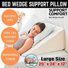 Foam Wedge Pillow Support Sleep Pillow Acid Reflux Neck leg feet Wedge Pillow