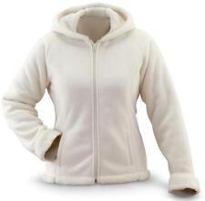 Soft & Warm Sherpa Lined Lightweight Full Zip Fleece Hoodie - Women Size Small