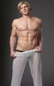 N2N Bodywear E5 (see-thru) Sheer Pants in WHITE