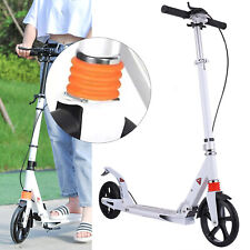Foldable Kick Scooter Lightweight Adjustable Kid Adult Ride Fun Alum w/Disc Bake
