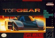 ***TOP GEAR SNES SUPER NINTENDO GAME COSMETIC WEAR~~~