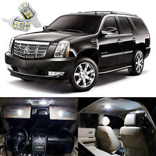 16 x White LED Interior Lights Package Kit For Cadillac Escalade 2007 - 2014
