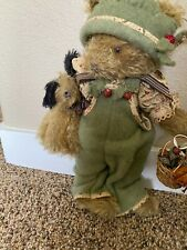 """Handmade 1998 Mohair Bunnies By The Bay """"Olive And Wags"""" #110"""