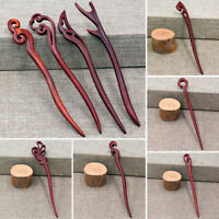 Chinese Style Wooden Carved Hairpin Hair Stick Hair Clip Hair Accessories Gift
