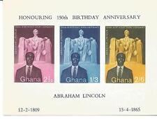 Ghana - 150. Geburtstag von Abraham Lincoln Block 1 postfrisch / NHN 1959