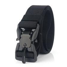 Adjustable Webbing Belt Men Women Belts with Quick Release Magnetic Buckle T2C0