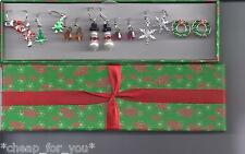 *~AVON~*HOLIDAY EARRINGS SET**7 PAIRS**NEW**GIFT BOXED**