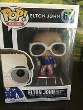 Funko Pop Rocks Elton John Red White & Blue #63 Glitter Fye Exclusive