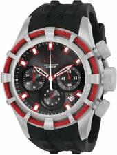 Invicta 22151 Bolt Quartz Chronograph Date Black Silicone Strap Mens Watch
