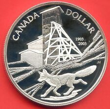 2003 Canada Proof Silver Dollar With COA (25.175 Grams .925 Silver)
