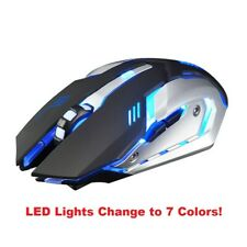 Wireless Silent click Rechargeable Gaming mouse for Dell Lenovo Apple Laptop PC