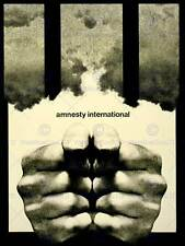 ADVERT CHARITY AMNESTY INTERNATIONAL PRISON BARS FINE ART PRINT POSTER ABB5745B