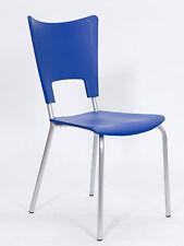 Sedia per bar,casa,locale cucina esterno in plastica Di colore blu arredo