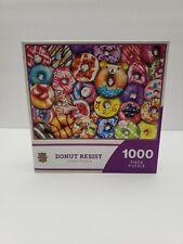 MasterPieces NEW 1000 Piece Jigsaw Puzzle DONUT RESIST - NIB
