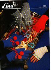 * Emu Knitting Pattern, Gloves, 6861