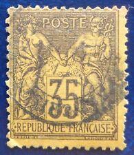 France oblitéré, n°93, 35c violet-noir sur jaune, Sage type 2, 1878