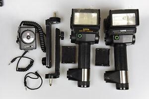 Sunpak Auto Zoom 3600 and 544 flash units x2 USED complete portable/studio sets