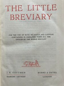 The Little Breviary - a simplified version of the traditional Divine Office