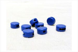 1000 Stk. Kunststoffplomben 8 mm blau - Plastikplomben
