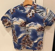 Hawaiian Original Short Sleeve Button Shirt Made In Hawaii Youth Size XXS