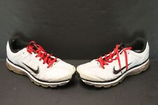 dcc803cf549cc Nike Air Max 2009 Leather White Black Red Mens Running Shoes 366718-102