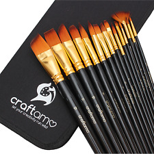 Craftamo Artist Paint Brushes Set - Watercolour, Oil, Acrylic Paint Brushes.