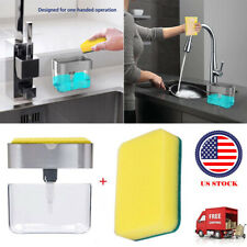 Soap Dispenser for Kitchen + 2-in-1 Sponge Holder - Quality Dish Soap Dispenser