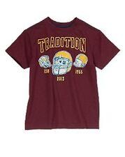Crazy 8 Touchdown Champ Burgundy Football Tradition Tee Shirt Boys M 7-8 NEW NWT