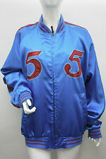 55 DSL Satin Bomber Baseball Jacket Blue Red Size M L