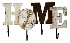 Contemporary Home Living Wooden MDF Home Sign Wall Hanging Coat Key Hook Rack