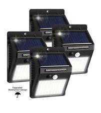 4 PACK Solar Power PIR Motion Sensor Wall Light Waterproof Outdoor Garden Lamp