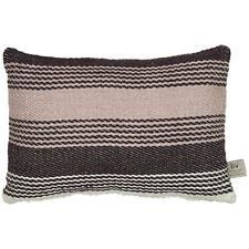 Black Grey Stripes Cushion Indoors & outdoors Recycled Plastic Eco Boho Garden