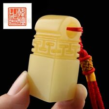 Tailormade Custom Chinese Seal Carving Name Chop Stamp Gift Yellow NEW