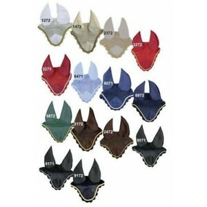 HKM Fliegenohren Fliegenhaube Ohrenschutz Pony VB WB - viele Farben - H&H Celle