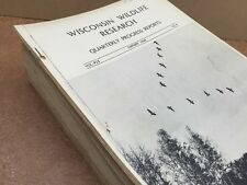 LOT of 12 Wisconsin wildlife research Pittman-Robertson  Reports 1948 - 1955