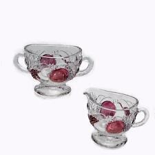 Westmoreland Glass Della Robbia Creamer & Sugar