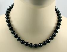 Spinell Kette schwarzer Spinell facettiert als Kugel Halskette für Damen 45,5 cm