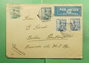 DR WHO 1940 SPANISH MOROCCO TANGIER AIRMAIL TO GERMANY WWII CENSORED  g12483