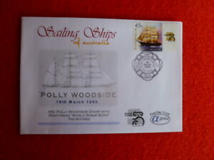 1999 AUST ALPHA FIRST DAY COVER A99 RIGHT TAB 45C POLLY WOODSIDE  SAILING SHIP S