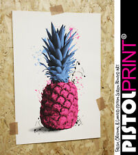 Pistol Print PINEAPPLE SPLATS hand screen printed limited edition Artwork Art
