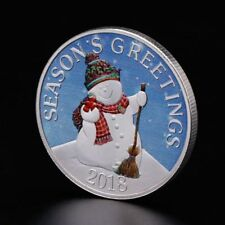 2018 Merry Christmas Commemorative Coin Snowman Santa Claus Xmas Gifts Alloy