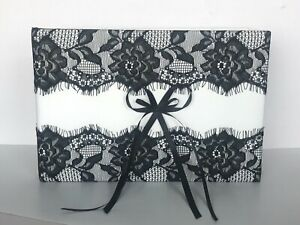 Forever Love Black Lace Unity Wedding Ivory Guestbook
