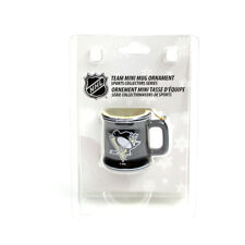 PITTSBURGH PENGUINS MINI CERAMIC MUG / CUP CHRISTMAS X-MAS ORNAMENT NHL NEW