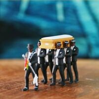 1/64 Coffin Dancing Pallbearer Team Model Action Figure Car Decor New Gift