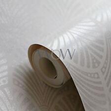 GATSBY ART DECO GLITTER WALLPAPER DOVE GREY - HOLDEN DECOR 65251 SPARKLE
