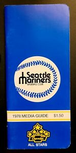 1978 MLB BASEBALL MEDIA GUIDE SEATTLE MARINERS