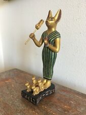 Ancient Museum Reproduction Egyptian Statue Bastet Cat Goddess