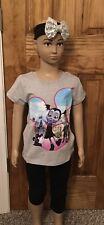 Cute Kids Girls Vampirina Cotton Gray Short Sleeve T-Shirt 3-4Years #100